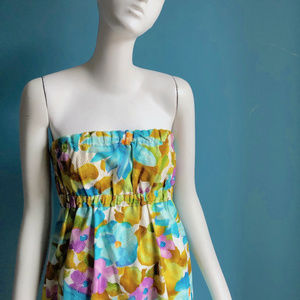 Vintage Watercolor French Jacquard Summer Dress